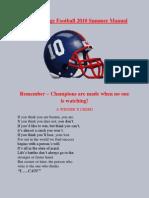 Hiram College Football 2010 Summer Manual
