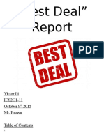 best deal report  victor li