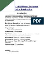 theeffectofdifferentenzymesonjuiceproduction
