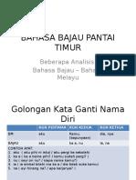 Bahasa Bajau