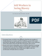 Women Field Workers in Jamaica During Slavery