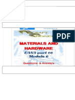 Materials and Hardware Module 6 Part 66