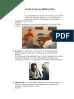 Habilidades Para La Entrevista psicologica