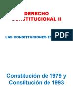 Constitución de 1979 y Constitución de 1993
