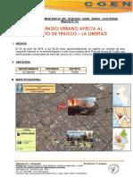 Incendio Urbano Afecta a Trujillo