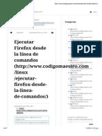 Ejecutar Firefox desde la línea de comandos