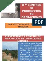 Planeamiento y Control de Producción en Operaciones Mineras - 2003