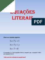 Equações literais 2 do vest