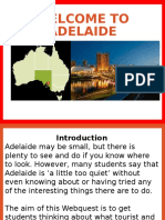 welcome to adelaide webquest