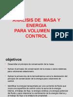 Analisis de Masa y Energia Para Volumen de Control