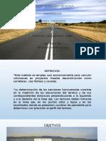 secciones transversales carreteras