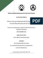 Factores clave para la humanización del espacio urbano, el caso de Plaza del Carmen de San Luis Potosí