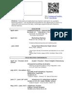 cory brown teaching resume