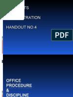 4. Office Procedure