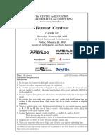 2012 Fermat Contest