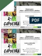 Afiches Capoeira SFP