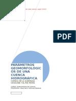 Final Parametros Geomorf