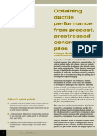 Obtaining Ductile Performance From Precast, Prestressed Concrete Piles