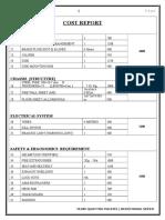 Cost Report of go kart