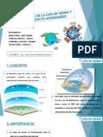 Contaminación de La Capa de Ozono. Gases Efecto Invernadero