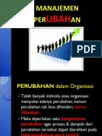 1. Manajemen Perubahan Organisasi