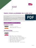 SNCF  - Trafic Du Dimanche 5 Juin