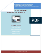 Transmisor de Audio y Video Con Acople
