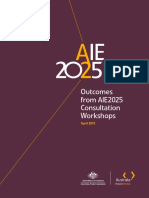 AIE2025 Consultation Workshop Report