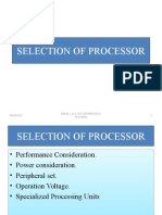 Selection of Processor