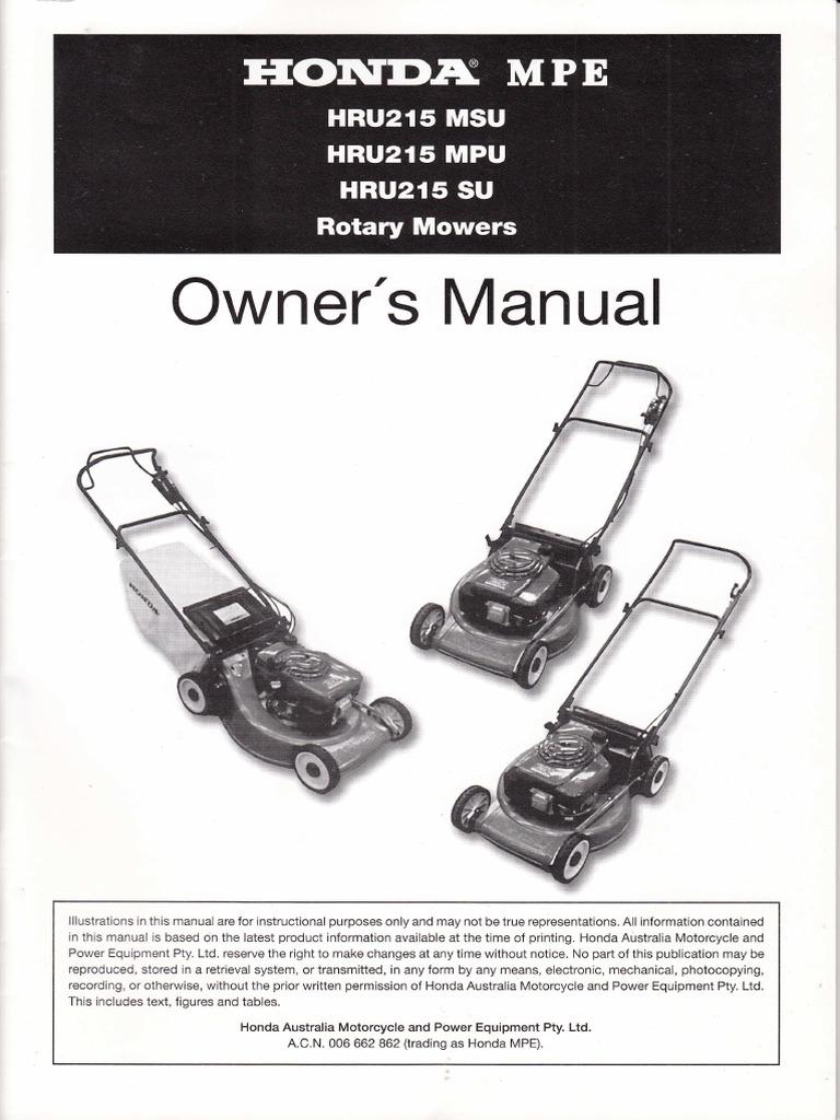 honda self propel mower hru215 carburetor lawn mower rh pt scribd com