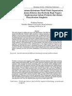 Efektifitas Ketentuan-Ketentuan World Trade Organization Tentang Perlakuan Khusus Dan Berbeda Bagi Negara Berkembang- Implementasi Dalam Praktek Dan Dalam Penyelesaian Sengketa