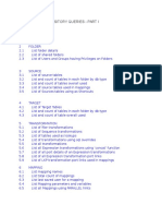 Informatica Repository Tables