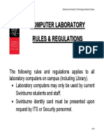 Open AcceOpen Access Computer Rules and Regulations V2016ss Computer Rules and Regulations V2016