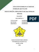 Sistem Informasi Akuntansi Bab 21 dan Bab 22