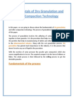 Fundamentals of Dry Granulation and Roller Compaction Technology