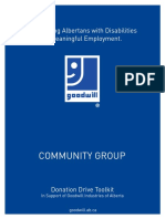 Donation Tool Kit for Community Groups