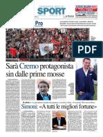 La Provincia Di Cremona 05-06-2016 - Calcio Lega Pro - Pag.1