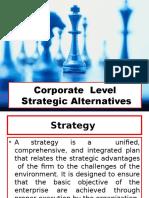 Corporate Level Strategic Alternatives