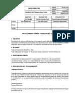 For. 036- Procedimiento de Trabajo en Altura
