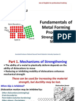 Fundamentals of Metal Forming Processes - Strengthening of Metals