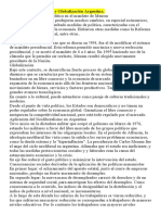 Menem, Neoliberalismo y Globalización Argentina