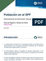 Reporte de Información Población Penal Abril 2016