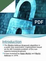 knapsack Cryptosystem