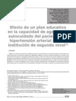 Efecto de Un Plan Educativo