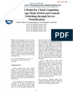A Hybrid Model for Cloud Computing using Storage Mode Switch and Content based Switching through Server Virtualization