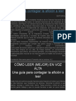 Como Leer en Voz Alta Felipe Garrido