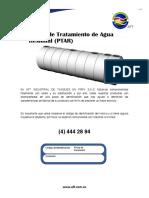 Manual PLANTA DE TRATAMIENTO PTAR