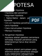 HIPOTESA PENELITIAN