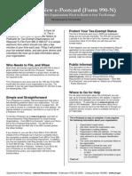 IRS 990-N Instruction Sheet
