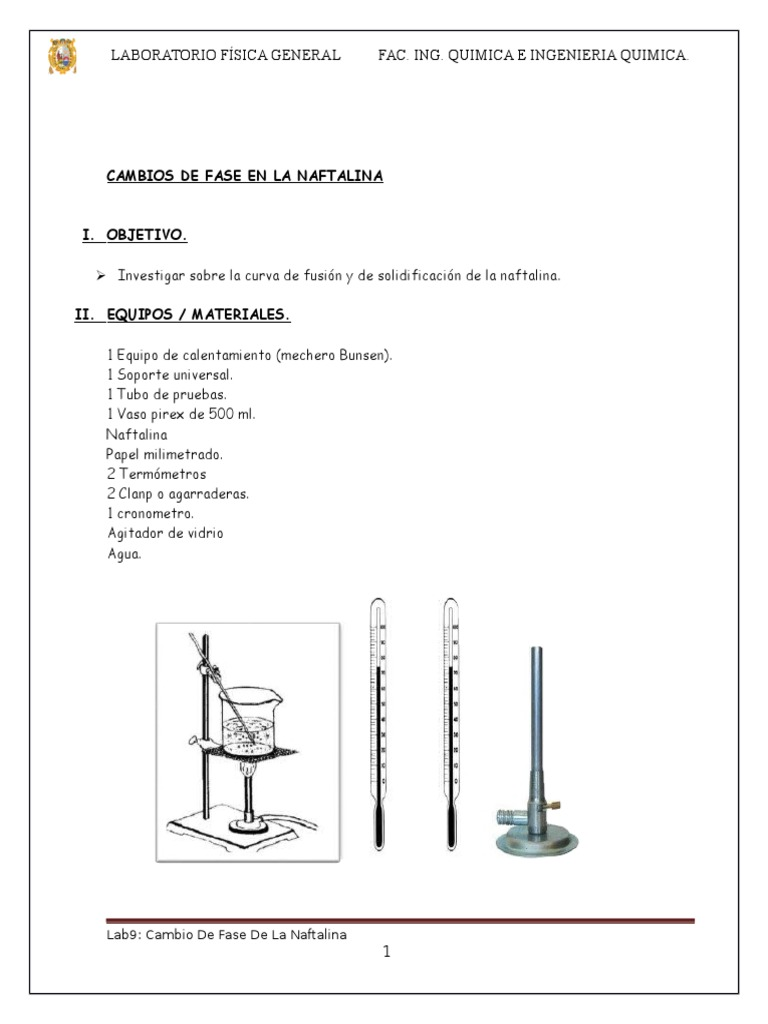 Informe 9 cambio de fase de la naftalina ccuart Image collections